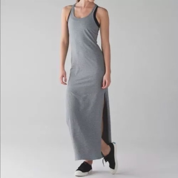 d569167d429 lululemon athletica Dresses   Skirts - Lululemon Refresh Maxi Dress ll sz 8  grey EUC